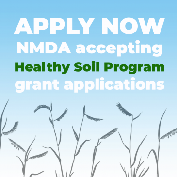 NMDA accepting Healthy Soil Program grant applications